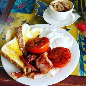 Cafe 54 mallacoota bacon eggs