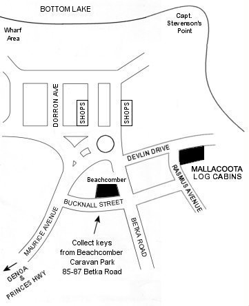beachcomber caravan park mallacoota directory_map
