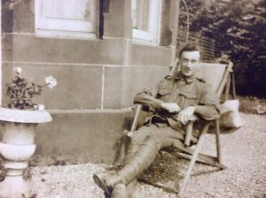 Archie Norman Hair enlisted in the 23 Battalion during WW1 and saw service at Gallipoli and France where he was wounded. He returned to farm at Willing before retiring and building a home at the Blue Pool near Briagolong in the 1950s. Seen here convalescing in France. Photo: Annette Power.