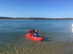 Kayaking with the dog on the Gippsland Lakes