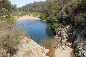 The Blue Pool (not Blue Pools) is a very popular swimming hole on the Freestone Creek north of Briagolong. This secret gem on State forest and is proudly maintained by the local DELWP crew from Briagolong.